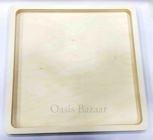 Wooden Square Plate Large -23