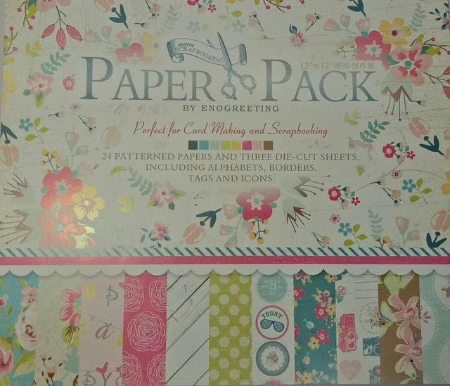 Paper Pack - perfect For Cardmaking & Scrapbooking.