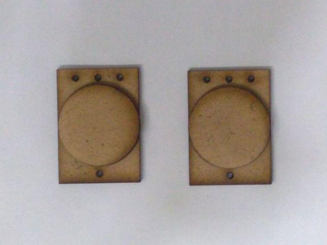MDF Jewellery  Bases-SQUARE CIRCLE  EARRING 16