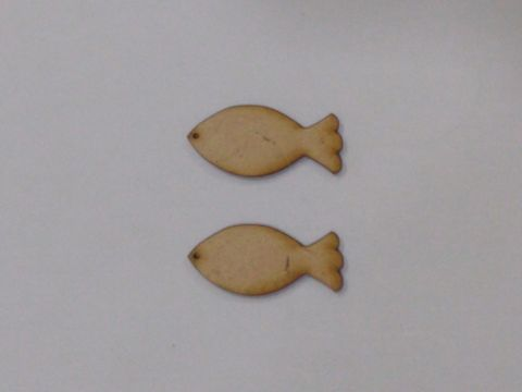 MDF Jewellery  Bases-FISH  EARRING 17