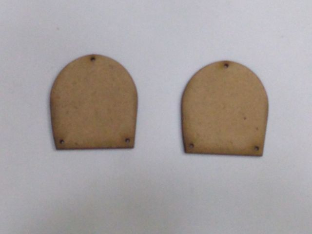 MDF Jewellery  Bases-ARCH  EARRING 18