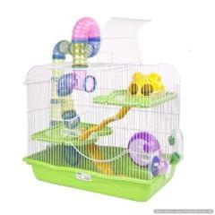 Large Hamster Cage with Tunnel & wheel (Good for Sugar Glider & Rodents)
