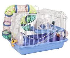 Play & Fun Cage for Hamster, Sugar Glider & Rodents with Tunnel & wheel