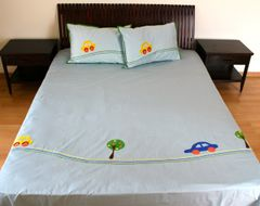 Cars on the road Bedsheet