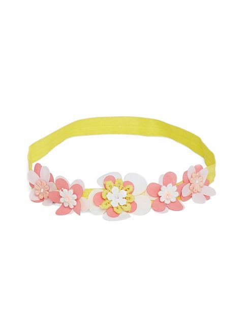Yellow 3 D headband
