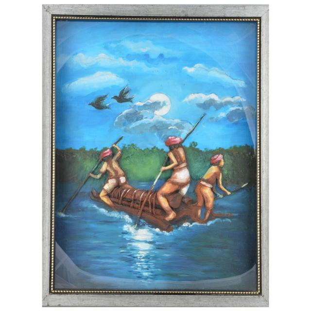 "Mangala Art Fisherman M-Seal Mural Wall Decor Painting - 35x48cms (14""x19"")"