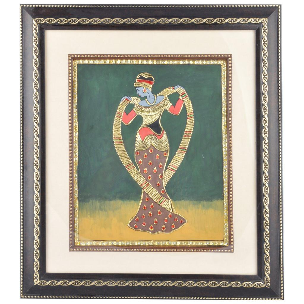 """Mangala Art Roman Figures Tanjore Paintings with double frame Wall Decor 35x41cms (14""""x16"""")"""