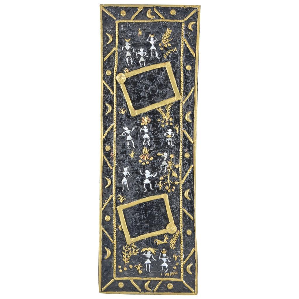 "Mangala Art People Warli Art Wall frames 46x15cms (18""x6"")"