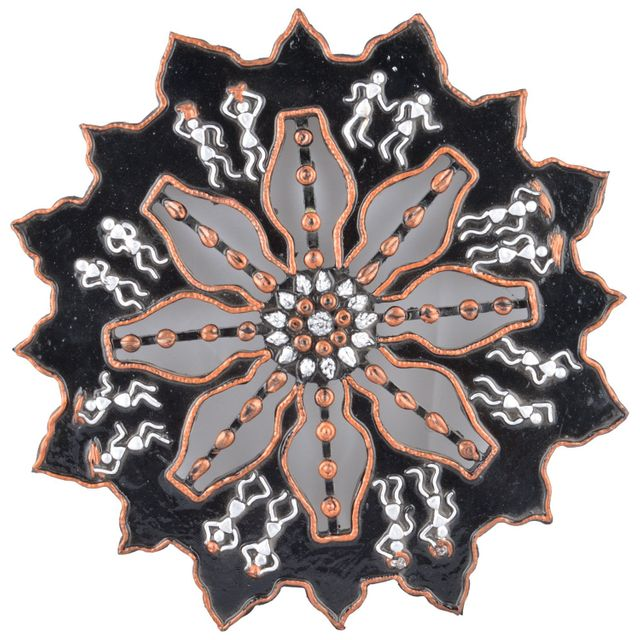 Mangala Art Warli Wheel Work Wall Decor 1 feet diameter