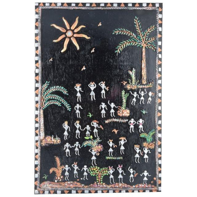 "Mangala Art Warli Artwork Wall Hanging Wall Decor 30x15cms (12""x6"")"