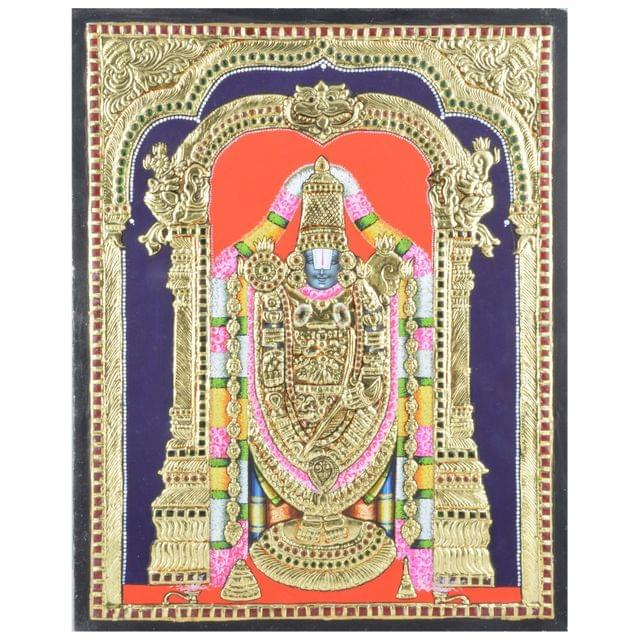 "Mangala Art Balaji Indian Traditional Tamil Nadu Culture Tanjore Without Frame Painting - 46x36cms (18""x14"")"