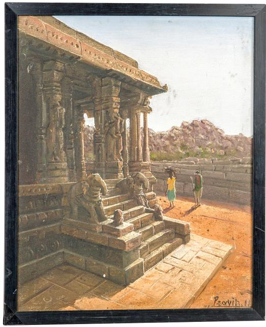 "Mangala Art Temple Wall Decor Canvas Oil Painting - 38x45cms (15""x18"")"