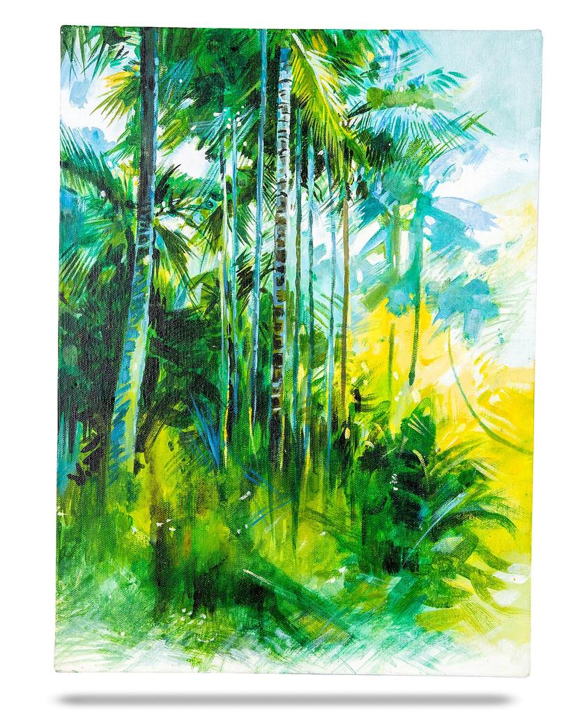 "Mangala Art Scenery Wall Decor Canvas Oil Painting - 40x30cms (16""x12"")"
