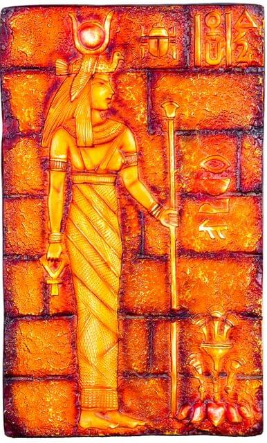 "Mangala Art Egyption Lady Mural Work Wall Decor Without Frame - 30x50cms (12""x20"")"