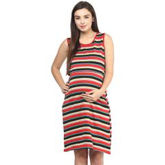 RED STRIPES OPEN TOP DRESS