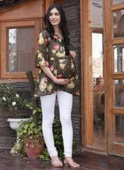 Constant Olive Floral Top