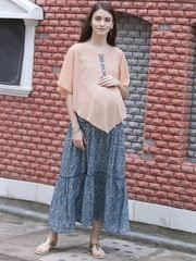 Boho Chic Layered Maternity & Nursing Dress