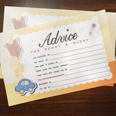 Advice Cards - Car Theme