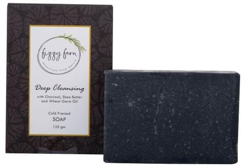 Deep Cleansing Soap with Charcoal, Shea Butter & Wheat Germ Oil