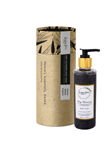 Deep Cleansing Body Wash with Charcoal, Shea Butter & Wheat Germ Oil