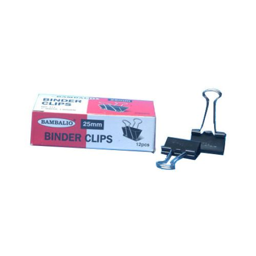 Bambalio Binder Clips 25 Mm (12Pcs)