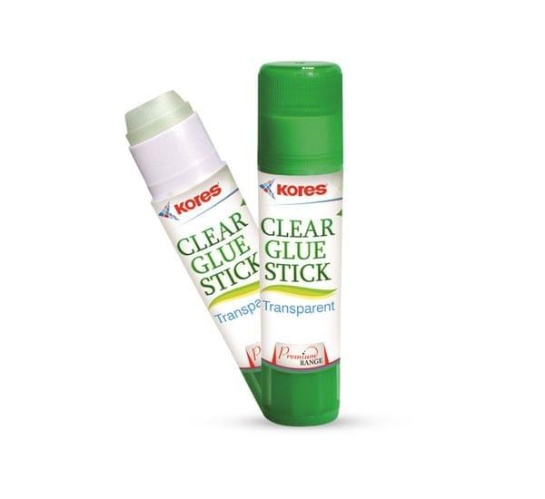 Kores Clear Glue Stick-8 Gms ,Transparent