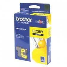 Brother LC38Y Yellow 260 Pages Ink Cartridge