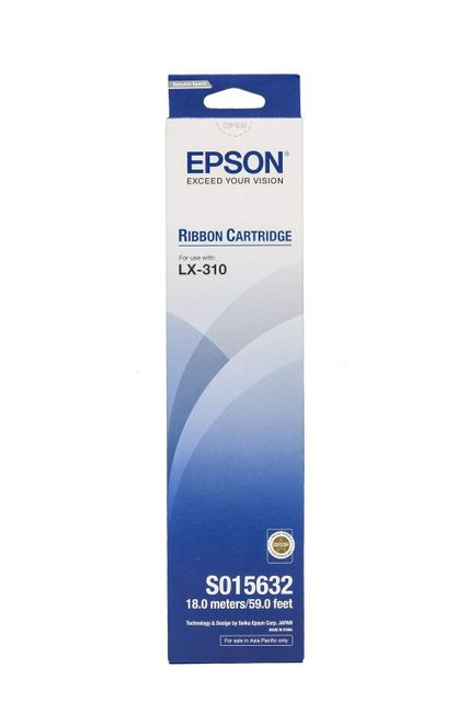Epson Black Fabric Ribbon Cartridge(S015632) for LX-310