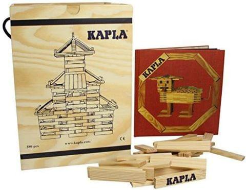 Kapla 280 Piece Set With Red Advanced Animals And Architecture  (Multicolor)