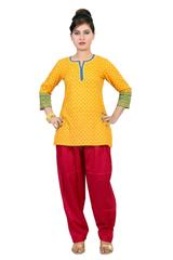 SALWAR - COTTON, RED