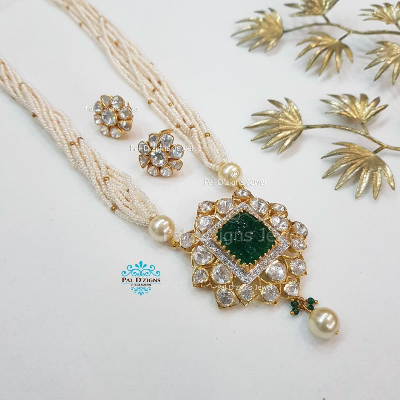 Astro Emerald moissanite pendant Set