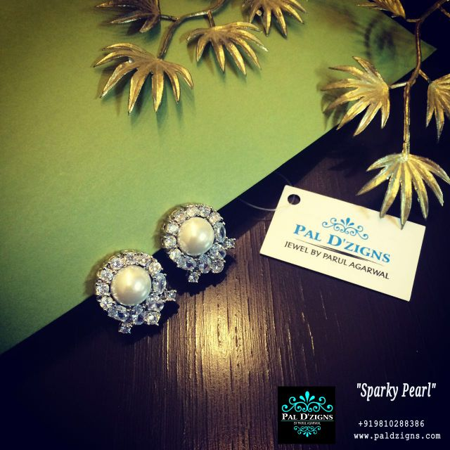 Sparky Pearl Diamond Earring