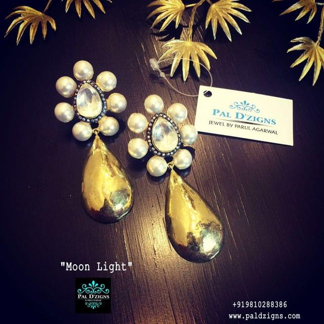 Moon light polki earings