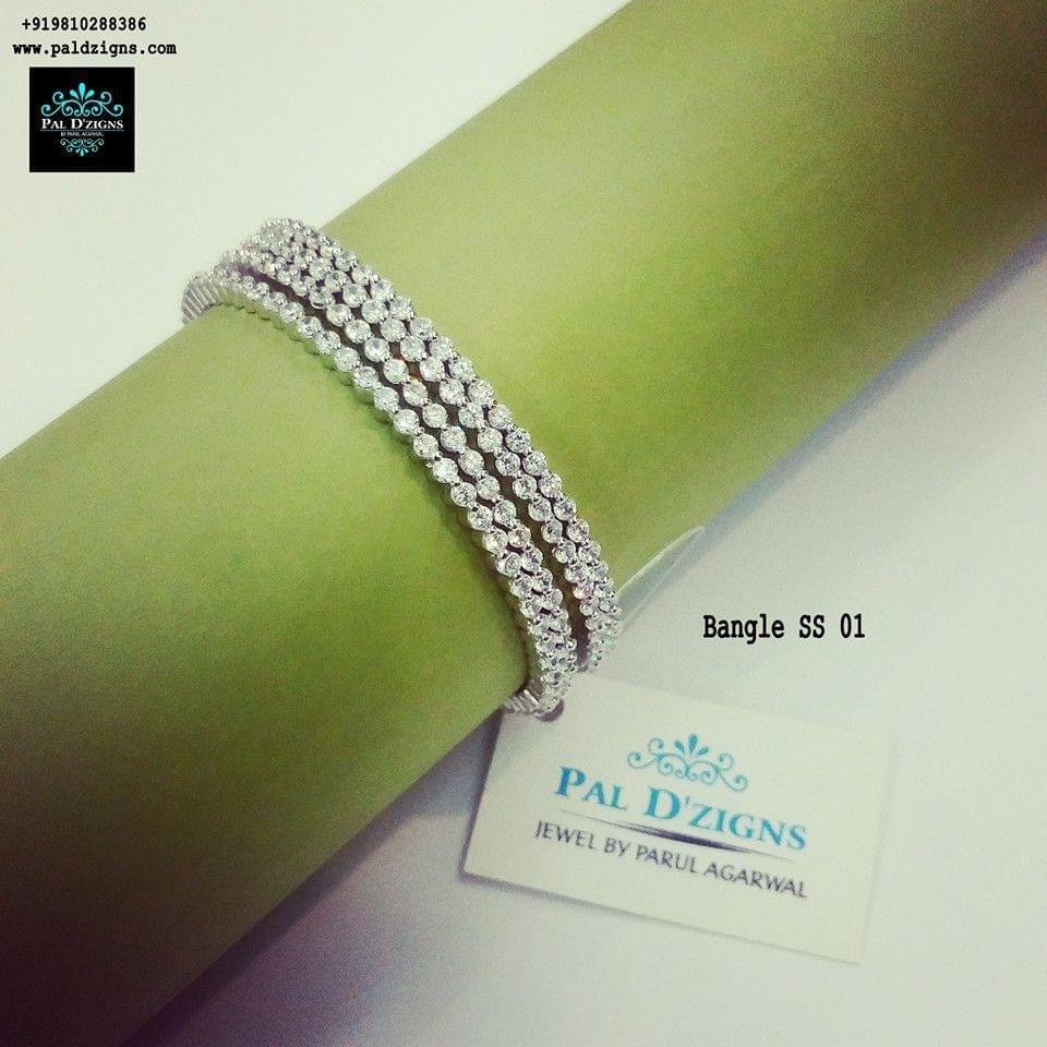 "Diamond Bangles 01 (2-8"")"