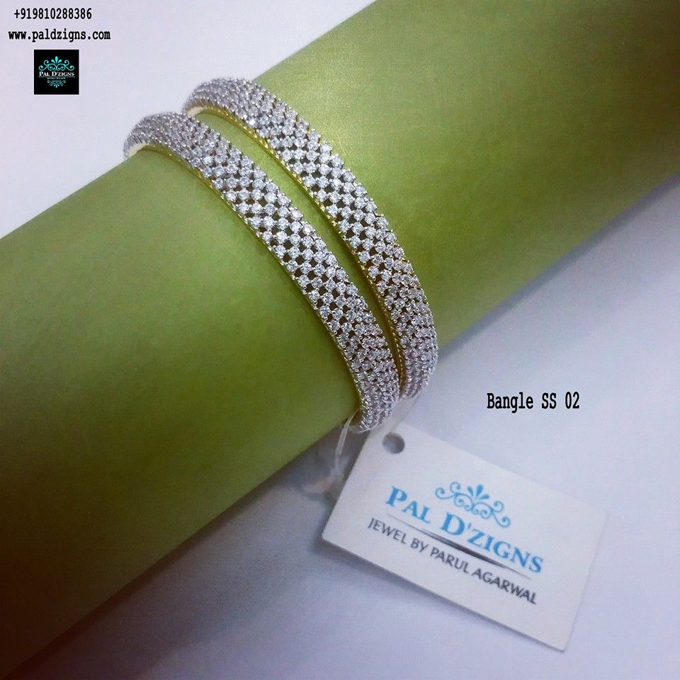"Diamond Bangles 02 (2-8"")"