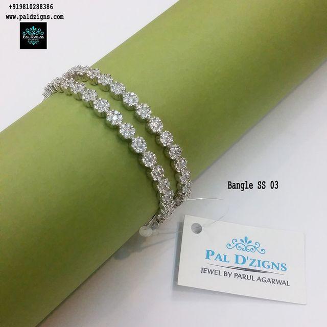 "Diamond Bangles 03 (2-6"")"