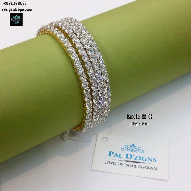 "Diamond Bangles 04 (2-6"")"