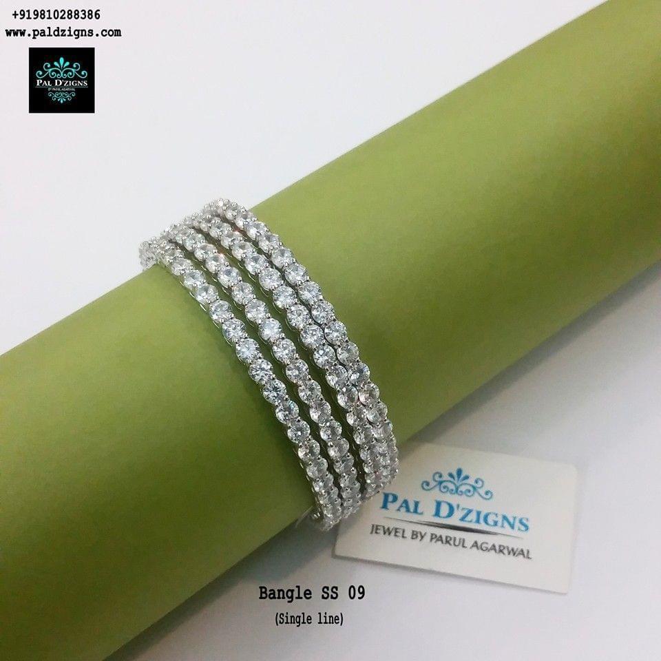 "Diamond Bangles 09 (2-8"")"