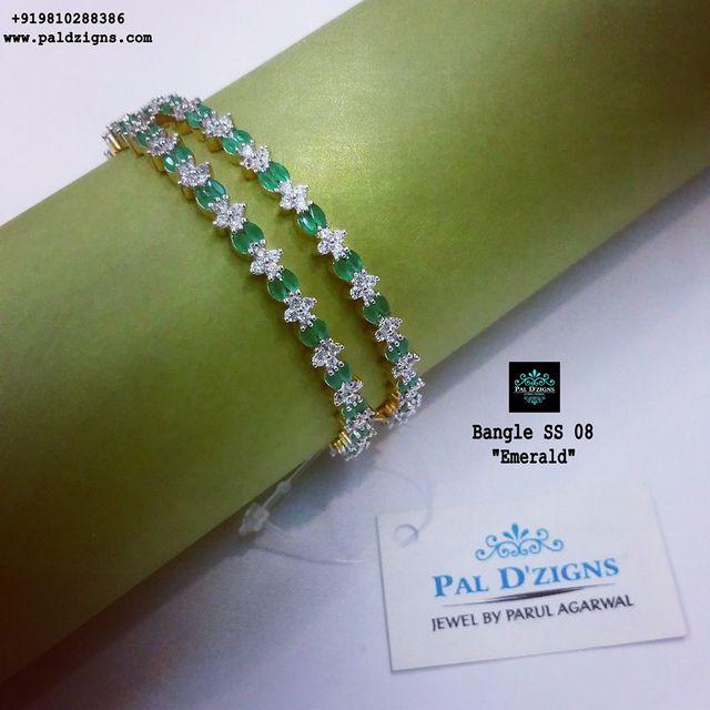 "Diamond Bangles 08 (2-8"")"