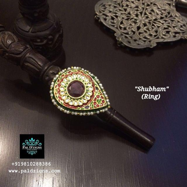 Shubham - Ruby Kundan Ring