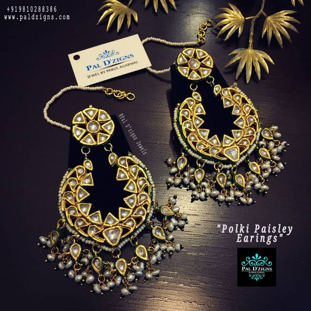 Polki Paisley Earings