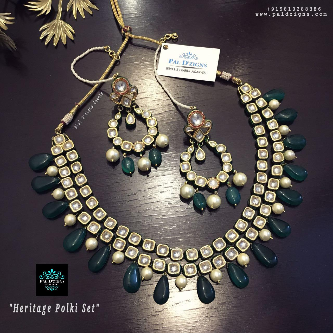 Heritage polki Necklace Set