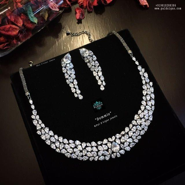 Demmie Diamond Necklace Set