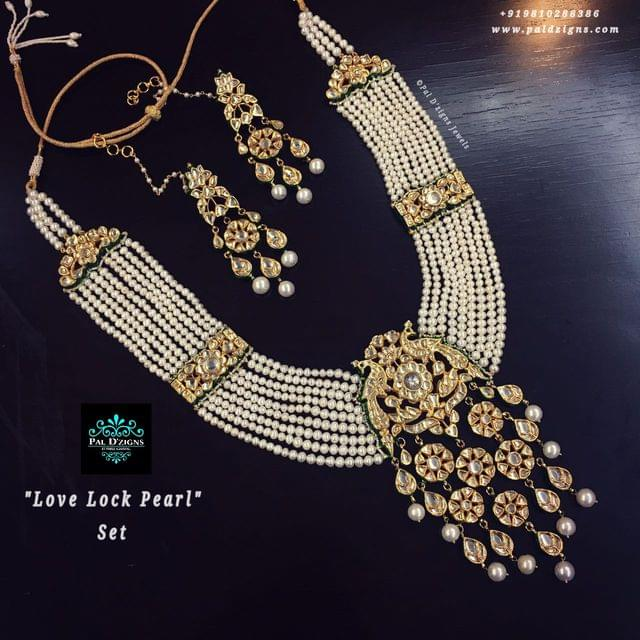 Love Lock pearl kundan set