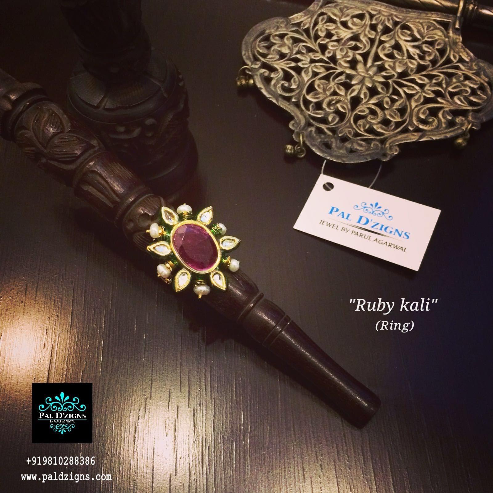 Ruby Kali Kundan Ring
