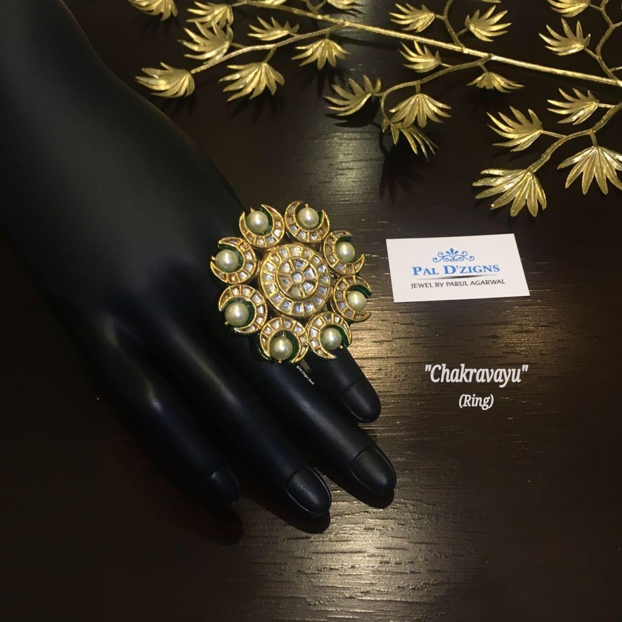 Chakravyu Kundan Ring