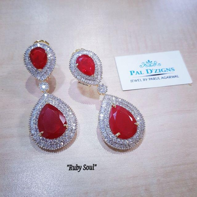 Ruby Soul Diamond Earing