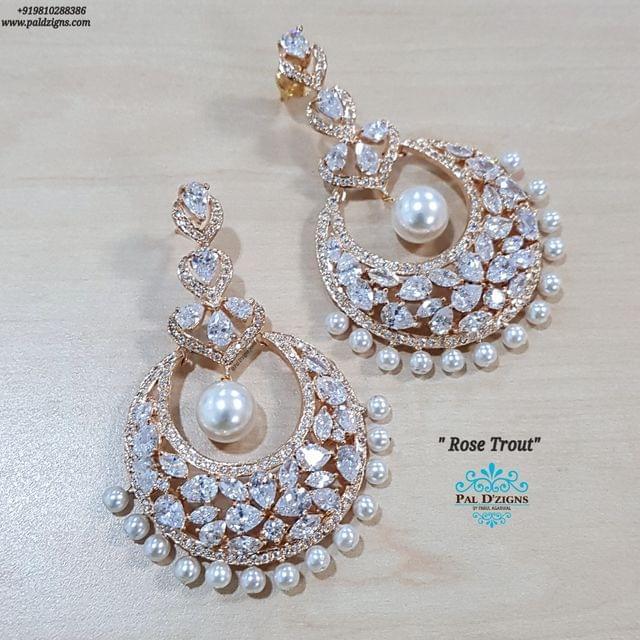 Rose Trout Diamond Earings