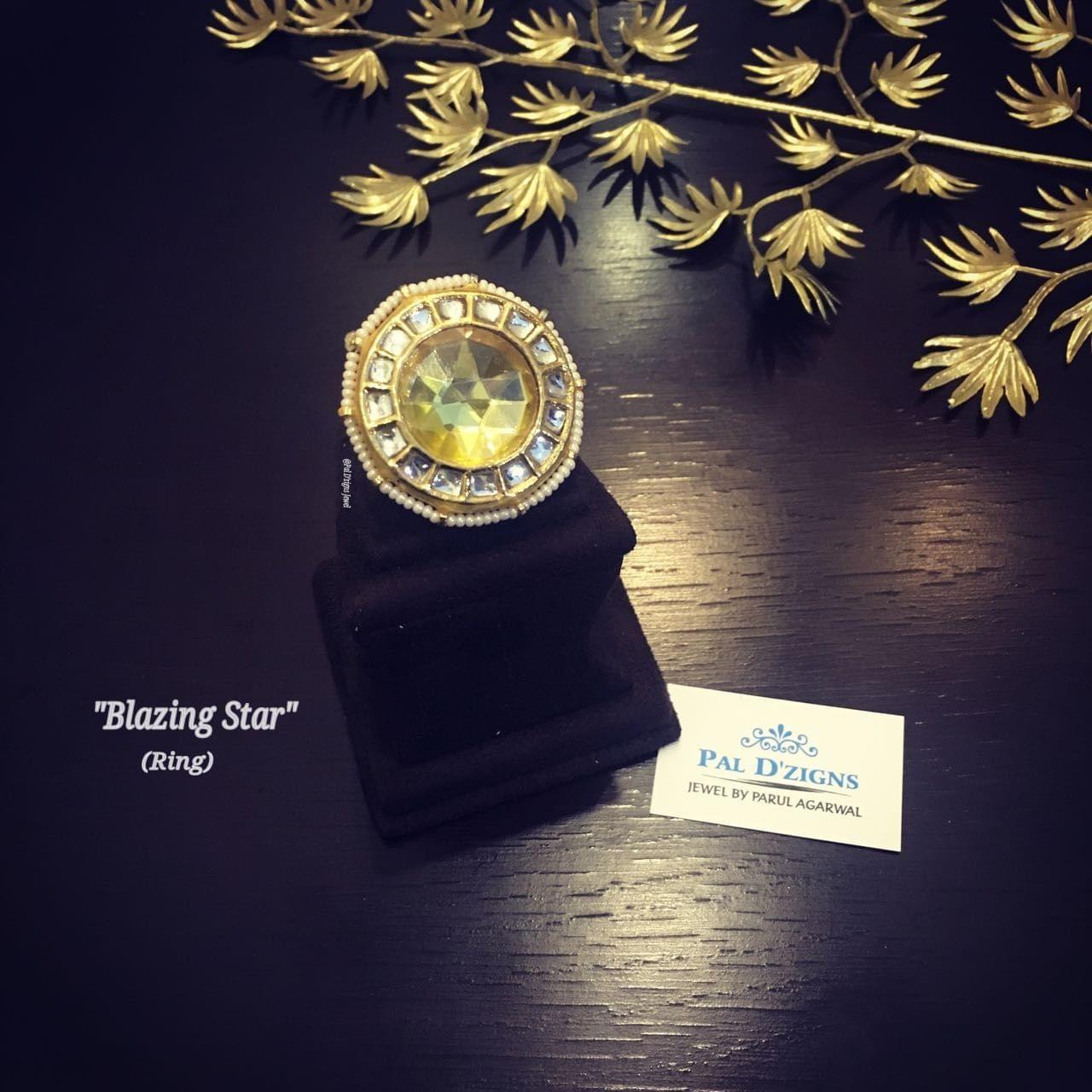 Blazing Star kundan ring