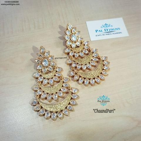 Chaandpari Kundan Earings